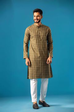 Picture of Mercerized Check Classic Kurta