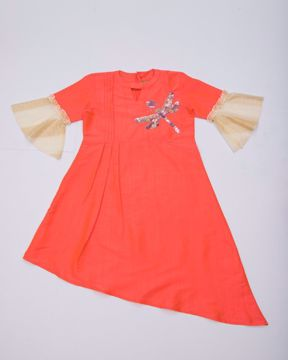 Picture of GIRLS WOVEN FASHION TOP (11-12Y) (13-14Y)