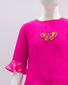 Picture of GIRLS WOVEN KURTI (5-6Y) (7-8Y)