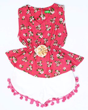 Picture of NEWBORN GIRLS PANT TOP  (3M) - (6M)