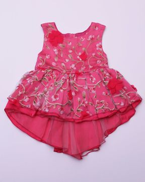 Picture of NEWBORN GIRLS PARTY DRESS (3M)-(6M)
