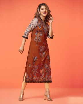 Picture of A-line Pattern Cotton Kurti 1111