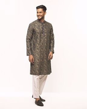 Picture of Mens Band Collar Basic Kurta