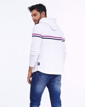Picture of Mens Stripe Vanquish Fitness Hoodie Pullover