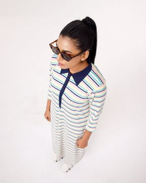 Picture of Womens Knit Fashion Long Tops