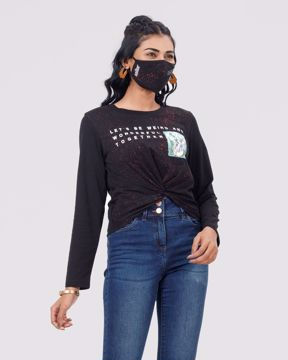 Picture of WOMENS KNIT CROP TOPS WITH MASK