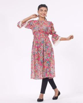 Picture of Womens Woven Long Tops