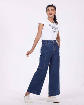 Picture of Womens Denim Trouser