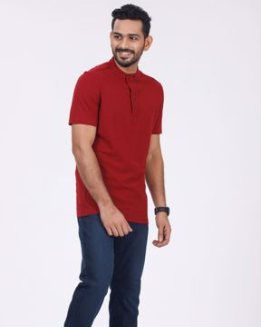 Picture of Wide Placket Pattern Polo