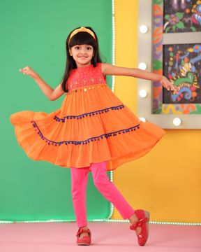 Picture of Girls Woven Long Tops(3-6 Years)