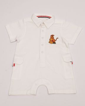 Picture of NEWBORN BOYS KNIT HENLEY SHIRT (H_S)