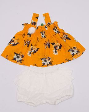 Picture of NEWBORN GIRLS WOVEN FROCK SET (3-6 MONTH)