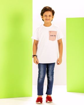 Picture of Boys Woven Over Size Pocket T-Shirt (7-10 Year)