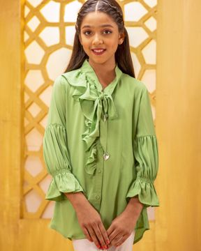 Picture of Girls Woven Long Tops(7-10 Years)