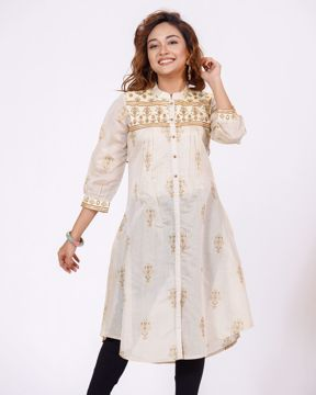 Picture of WOMEN WOVEN  LONG  KURTI
