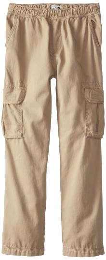 The Children's Place Big Boys' Pull-On Cargo Pant, Flax, 8
