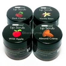 4pc Beauty Treats Lip Scrub with Almond Creme Wild Apple Vanilla Bean Dark Cherry All 4 Full Set