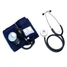Blue Cross Heart Mate Aneroid Sphygmomanometer Set with Stethoscope Blood Pressure Monitor (Black)