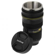 ZOOM-ABLE! Coffee Mug in the Shape of Nikon 24-70 Lens, Interior is Stainless by Nepmandu