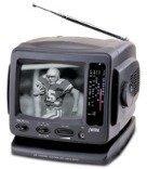 """Jwin Jvtv1010B 5.5"""" B&W Ac/Dc Portable Tv With Am/Fm Radio (Black) """