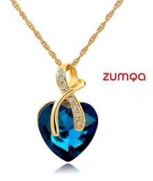 Crystal Heart-Shaped Necklace by ZUMQA