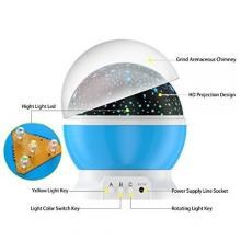 [Newest Generation] LED Night Lighting Lamp -Elecstars Light Up Your Bedroom With This Moon, Star,Sky Romantic LED Nightlight Projector, - Best Gift for Teens Kids Children Sleeping Aid(Blue)