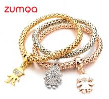 Girl Boy Pendant Charm Bracelet by ZUMQA