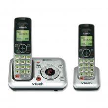 VTech CS6429-2 DECT 6.0 Expandable Cordless Phone with Answering System and Caller ID/Call Waiting, Silver with 2 Handsets