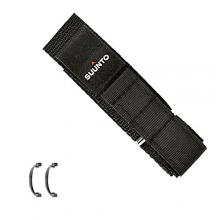 Suunto Wrist-Top Computer Watch Replacement Strap Kit (Vector, Altimax, Mariner, Regatta, D3; Black Fabric)