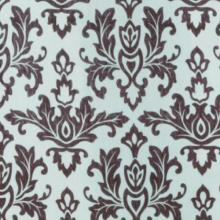 Carnation Home Fashions Damask Fabric Shower Curtain, Chocolate on Green