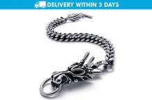Free Delivery: Fashion Dragon Design Bracelet for P599 instead of P1000 - Ideal Accessory for Men
