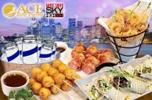 Party with 1 Set of Bar Chow & Drinks at Ace Hotel`s Sky High Bar for P999 instead of P1800