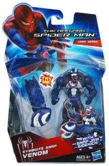Amazing Spider-Man Movie 3.75 Inch Action Figure Symbiote Snap Venom Snap Jaw Sidekick!