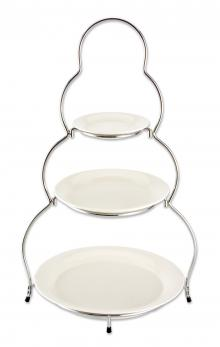 Godinger 3-Tier Porcelain Server