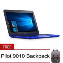 "Dell Inspiron 11 3162 11.6"" Celeron Dual Core N3050 2GB Blue Windows 10 Laptop with Pilot Bag"