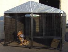Dog Kennel Shade Wind Screen - Weather Guard Extra Large Shade Cloth with Grommets - Perfect for All 10ft. X 10ft. Or 5ft. X 15ft. Outdoor Cages and Pens (57in. H x 34ft. L)