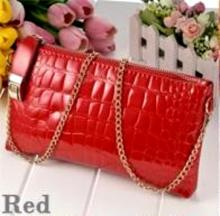 Fashion Plaid Women Chain Shoulder Bag Mini-messenger Bag - Red