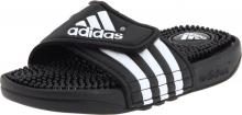 adidas Adissage Sandal (Toddler/Little Kid/Big Kid),Black/White/Black,6 M US Big Kid