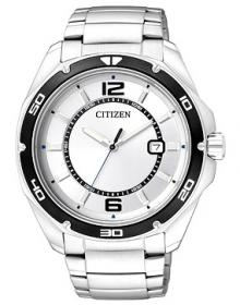 Citizen Men's Classic BK2520-53A Silver Stainless-Steel Quartz Watch with Silver Dial