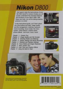 Nikon D800 Instructional DVD by QuickPro Camera Guides