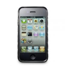 APPLE iPhone 4 / 4S Splendid 3D TPU Skin Case by Acase(TM), BLACK (Fits AT&T, Sprint and Verizon iPhone 4 and 4S)
