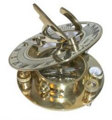 """Gorgeous Brass Sundial Reproduction of an Antique, is Approx 3"""" Dia x 11/16"""" Thick Overall, and Actu"""