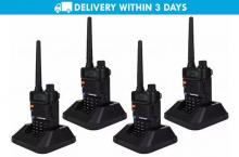 Free Delivery: Teamup TUV8 Walkie Talkie FM Transceiver Set of 4 for P5399 instead of P10999