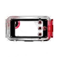 Seashell Waterproof Photo Housing Underwater Case for iPhone 5 - Red
