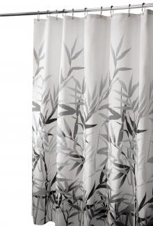 InterDesign Anzu Shower Curtain, Gray