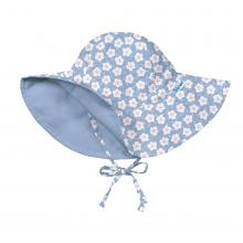i play. Baby Girls' Reversible Brim Sun Protection Hat, Light Blue Blossom, 0-6 Months