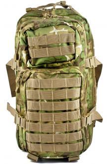 Mil-Tec Military Army Patrol Molle Assault Pack Tactical Combat Rucksack Backpack Bag 20L Arid Woodland Camo