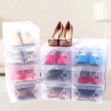Transparent Clear Plastic Shoe Boxes Foldable