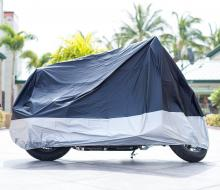 "XYZCTEM All Season Black Waterproof Sun Motorcycle Cover,Fits up to 108"" Motors (XX Large & Lockholes)"