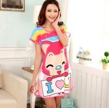 Cute Cartoon Character Night Dress - Sweet Cat